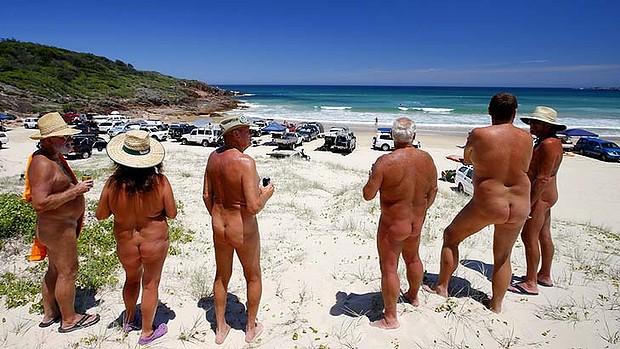 Nude beach nudist resort
