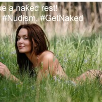 Take a #naked rest, try #nudism, #GetNaked