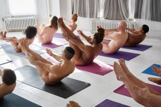 Image result for naked yoga class