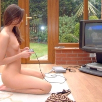 Nudist idea #55: Play video games naked